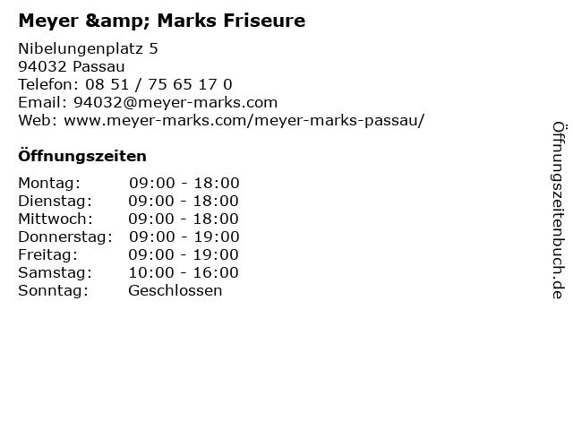 Meyer & Marks Friseure in Passau: Adresse und Öffnungszeiten