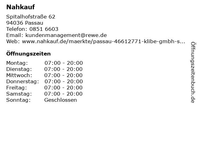Nahkauf in Passau: Adresse und Öffnungszeiten