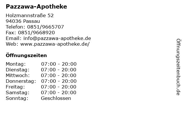 Pazzawa-Apotheke in Passau: Adresse und Öffnungszeiten