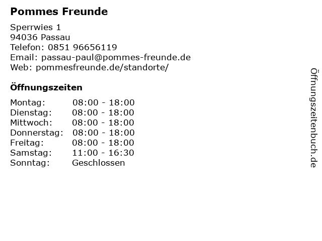 Pommes Freunde in Passau: Adresse und Öffnungszeiten