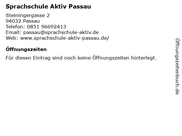 Sprachschule Aktiv Passau in Passau: Adresse und Öffnungszeiten