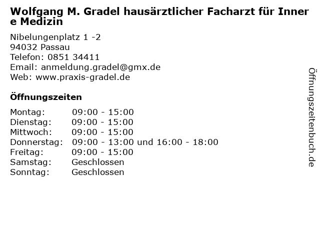 Gradel, Wolfgang M. in Passau: Adresse und Öffnungszeiten