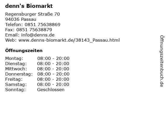 denn's Biomarkt in Passau: Adresse und Öffnungszeiten