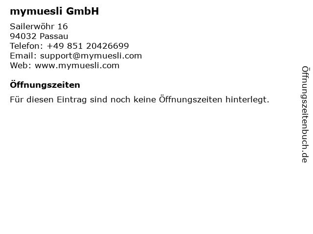 mymuesli GmbH in Passau: Adresse und Öffnungszeiten