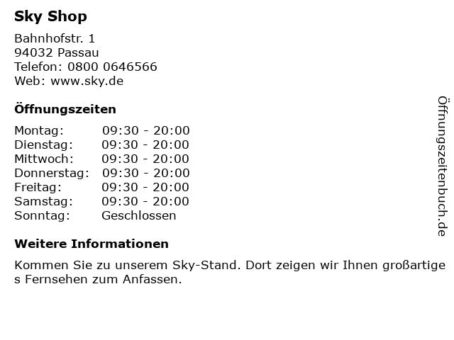 sky Entertainment Point in Passau: Adresse und Öffnungszeiten