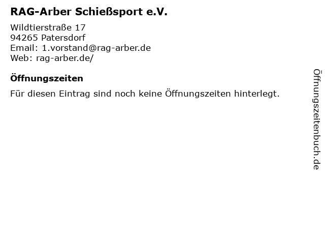RAG-Arber Schießsport e.V. in Patersdorf: Adresse und Öffnungszeiten