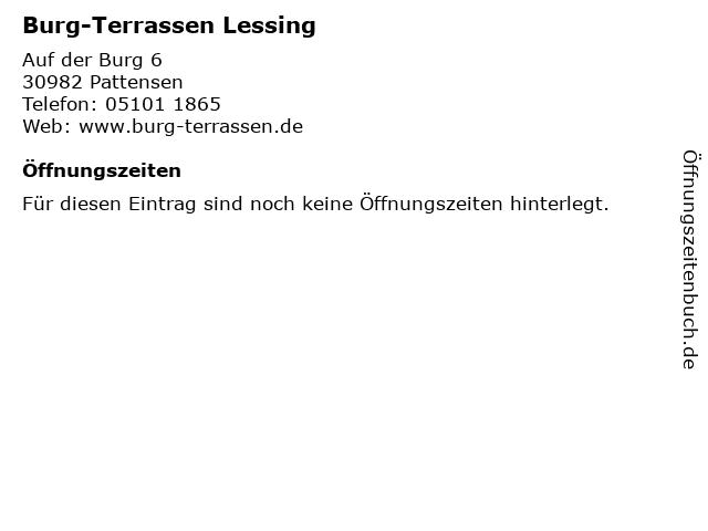 Burg-Terrassen Lessing in Pattensen: Adresse und Öffnungszeiten