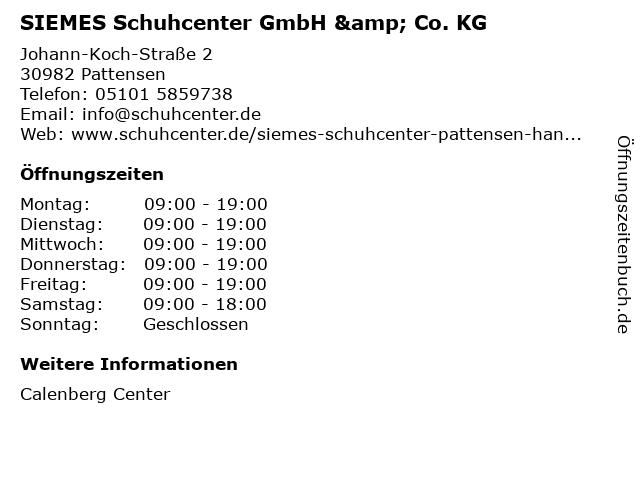 SIEMES Schuhcenter GmbH & Co. KG in Pattensen: Adresse und Öffnungszeiten