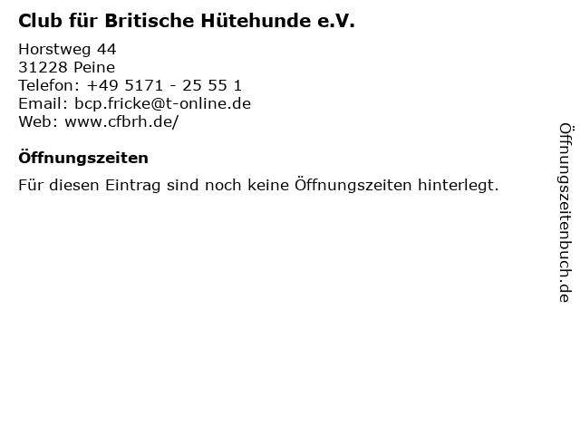 Club für Britische Hütehunde e.V. in Peine: Adresse und Öffnungszeiten