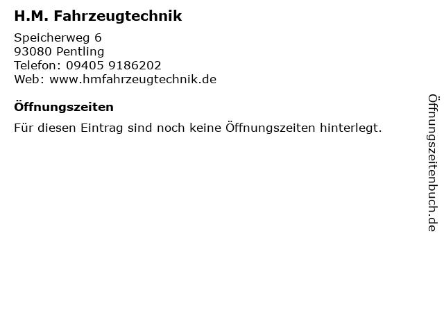 H.M. Fahrzeugtechnik in Pentling: Adresse und Öffnungszeiten