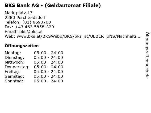 BKS Bank AG - (Geldautomat Filiale) in Perchtoldsdorf: Adresse und Öffnungszeiten