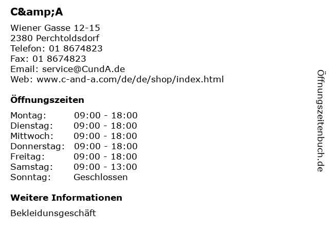 C&A in Perchtoldsdorf: Adresse und Öffnungszeiten