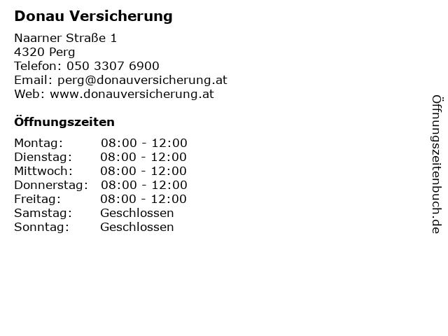 Donau Versicherung in Perg: Adresse und Öffnungszeiten