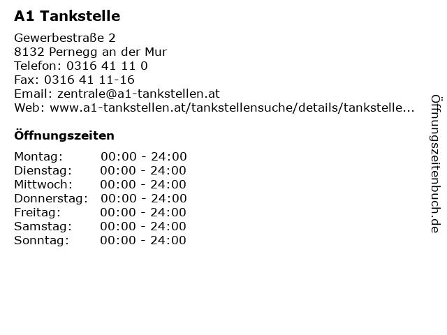 A1 Tankstelle in Pernegg an der Mur: Adresse und Öffnungszeiten