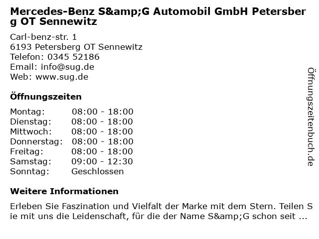 S&G Automobil GmbH - Service Nfz in Petersberg Bei Halle: Adresse und Öffnungszeiten