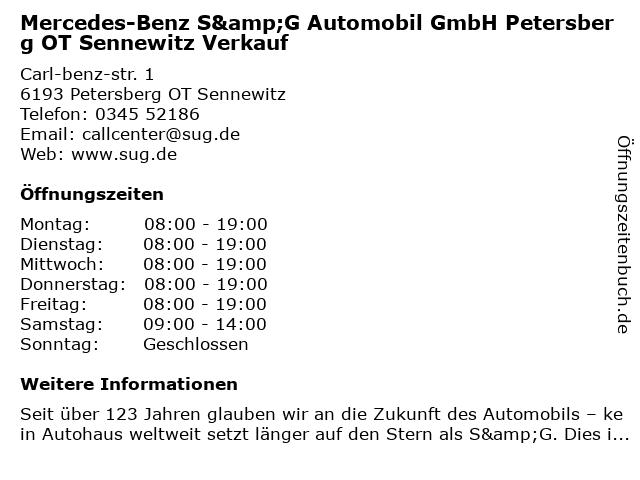 S&G Automobil GmbH - Service PKW in Petersberg Bei Halle: Adresse und Öffnungszeiten