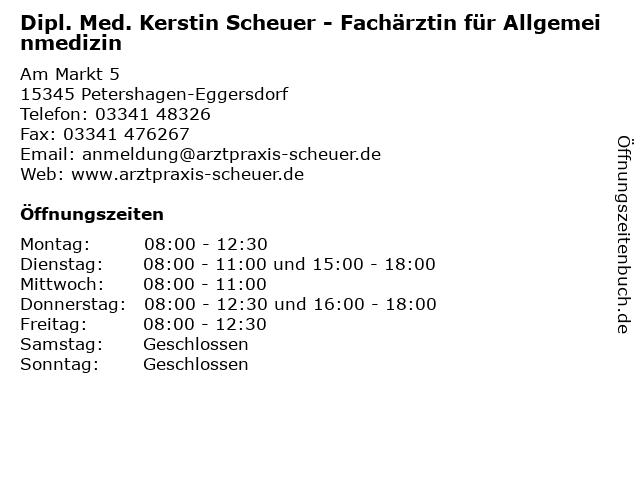 Dipl.-Med. Kerstin Götze in Petershagen-Eggersdorf: Adresse und Öffnungszeiten