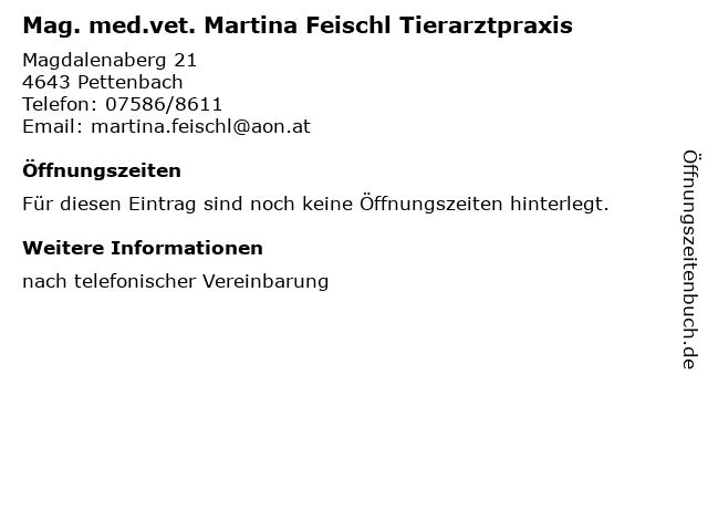 Mag. med.vet. Martina Feischl in Pettenbach: Adresse und Öffnungszeiten