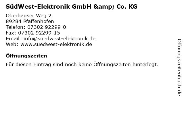 SüdWest-Elektronik GmbH & Co. KG in Pfaffenhofen: Adresse und Öffnungszeiten