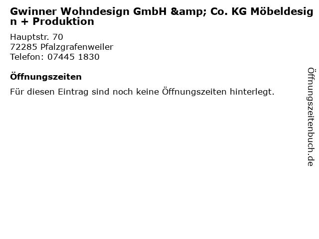 ᐅ Offnungszeiten Gwinner Wohndesign Gmbh Co Kg Mobeldesign