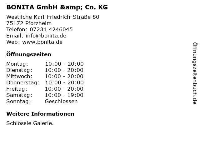 BONITA GmbH & Co. KG in Pforzheim: Adresse und Öffnungszeiten