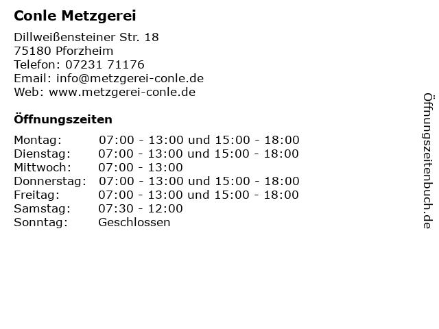 Conle Metzgerei in Pforzheim: Adresse und Öffnungszeiten