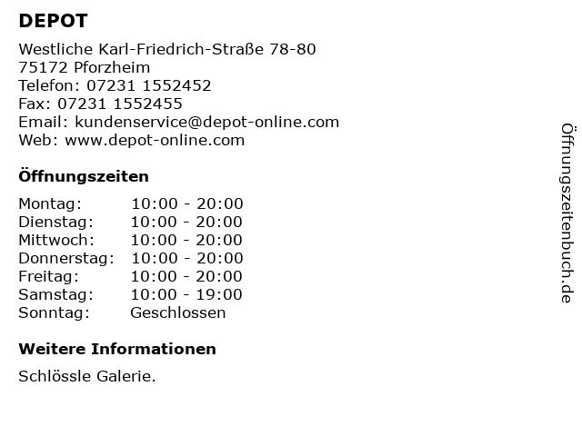 DEPOT Gries Deco Company GmbH in Pforzheim: Adresse und Öffnungszeiten