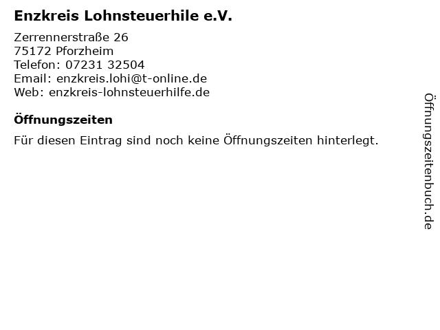 Enzkreis Lohnsteuerhile e.V. in Pforzheim: Adresse und Öffnungszeiten