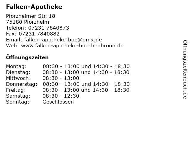 Falken-Apotheke in Pforzheim: Adresse und Öffnungszeiten