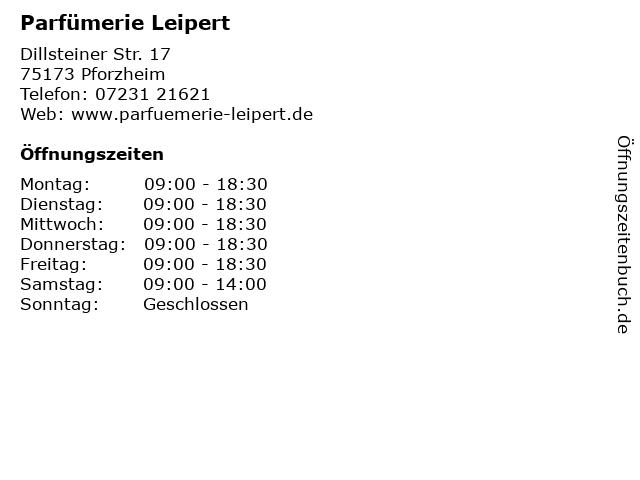 Parfümerie Leipert in Pforzheim: Adresse und Öffnungszeiten