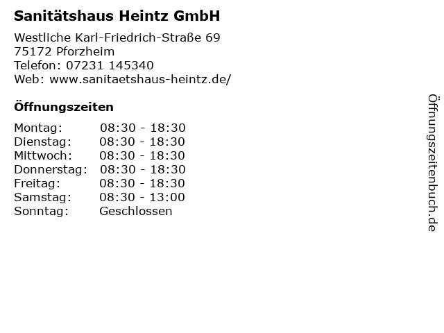 Sanitätshaus Heintz GmbH in Pforzheim: Adresse und Öffnungszeiten