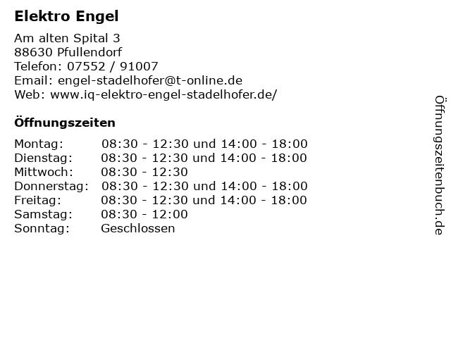 Elektro Engel in Pfullendorf: Adresse und Öffnungszeiten