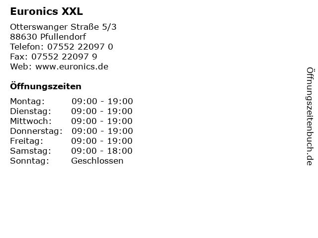 Euronics XXL in Pfullendorf: Adresse und Öffnungszeiten