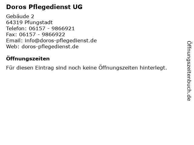 Doros Pflegedienst UG in Pfungstadt: Adresse und Öffnungszeiten