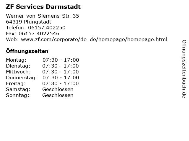 ZF Services Darmstadt in Pfungstadt: Adresse und Öffnungszeiten