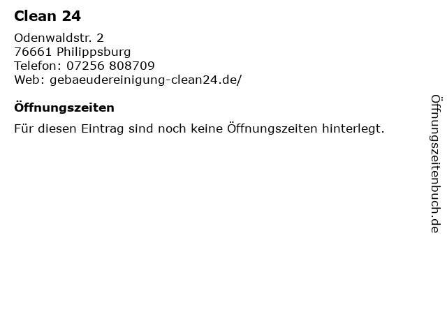 Clean 24 in Philippsburg: Adresse und Öffnungszeiten