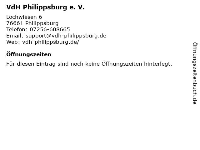 VdH Philippsburg e. V. in Philippsburg: Adresse und Öffnungszeiten