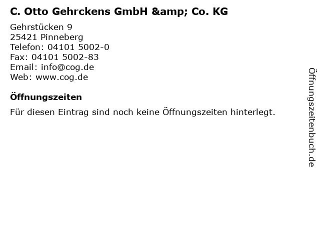 C. Otto Gehrckens GmbH & Co. KG in Pinneberg: Adresse und Öffnungszeiten