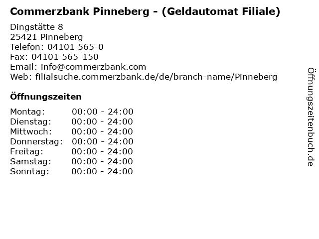 Commerzbank Pinneberg - (Geldautomat Filiale) in Pinneberg: Adresse und Öffnungszeiten