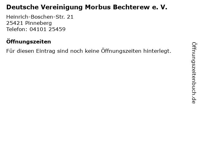 Deutsche Vereinigung Morbus Bechterew e. V. in Pinneberg: Adresse und Öffnungszeiten