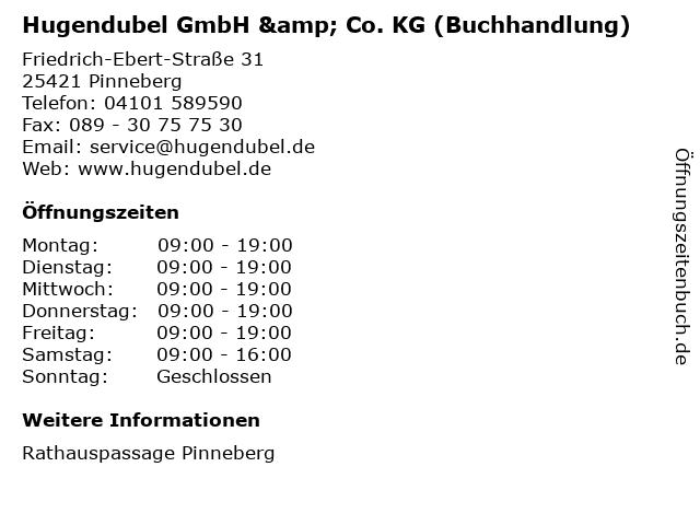 Hugendubel GmbH & Co. KG (Buchhandlung) in Pinneberg: Adresse und Öffnungszeiten