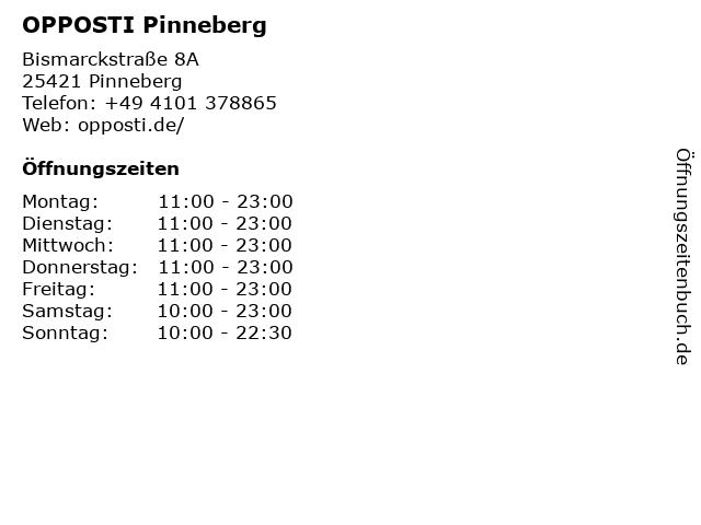 Restaurant Opposti in Pinneberg: Adresse und Öffnungszeiten