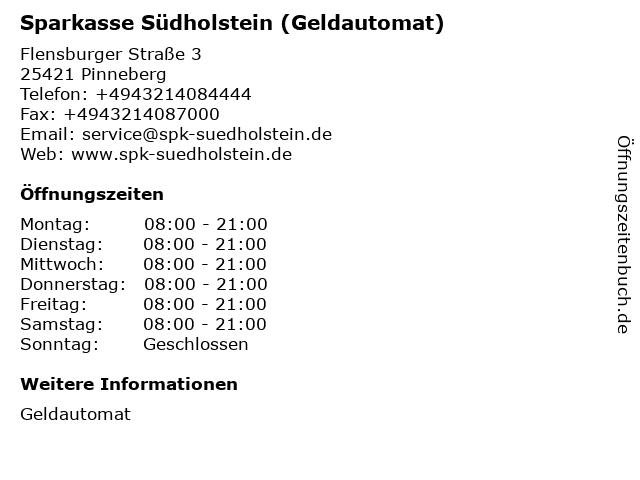 Sparkasse Südholstein - (Geldautomat Famila Markt Pinneberg) in Pinneberg: Adresse und Öffnungszeiten