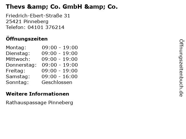 Thevs & Co. GmbH & Co. in Pinneberg: Adresse und Öffnungszeiten