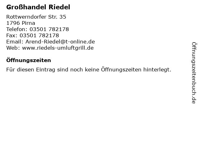 Großhandel Riedel in Pirna: Adresse und Öffnungszeiten