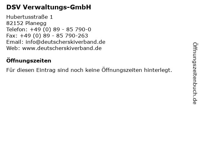 DSV Verwaltungs-GmbH in Planegg: Adresse und Öffnungszeiten
