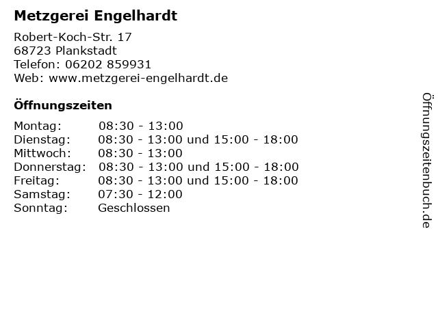 Metzgerei Engelhardt in Plankstadt: Adresse und Öffnungszeiten