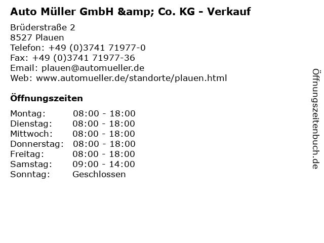 Auto Müller GmbH & Co. KG - Verkauf in Plauen: Adresse und Öffnungszeiten