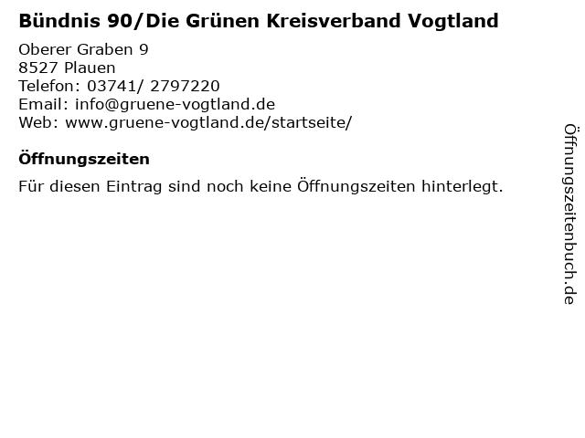 Bündnis 90/Die Grünen Kreisverband Vogtland in Plauen: Adresse und Öffnungszeiten