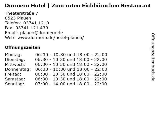Dormero Hotel   Zum roten Eichhörnchen Restaurant in Plauen: Adresse und Öffnungszeiten
